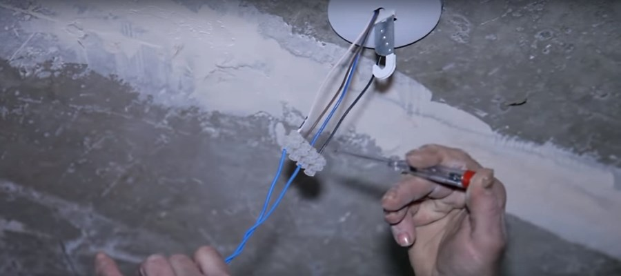 Проверка наличие фазуы в проводе идущем на люстру