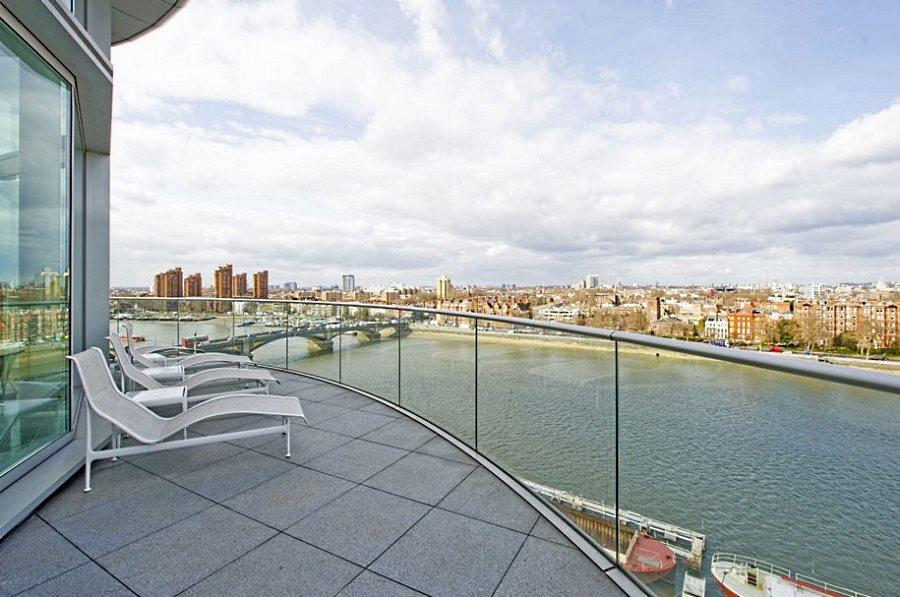 Терраса квартиры с видом на реку Дон