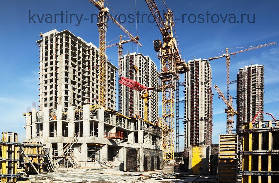 Застройка жилищного комплекса в Ростове